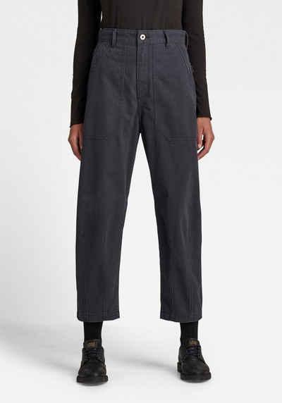 G-Star RAW 7/8-Jeans »3D Ultra High Fatigue Pants« aus nachhaltigen Garnen - Fischgrätgewebe mit feiner Streifenstruktur