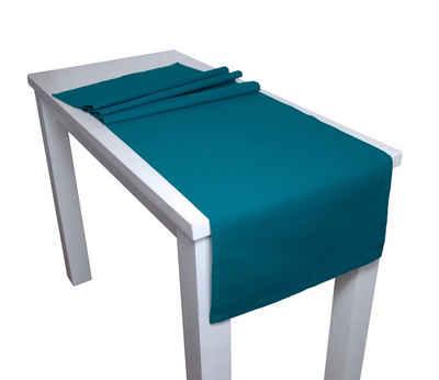 beties Tischläufer »Farbenspiel«, ca. 40x150 cm Tischband in interessanter Größen- und Farbauswahl 100% Baumwolle für eine fröhlich Stimmung Uni Farbe (Petrol)