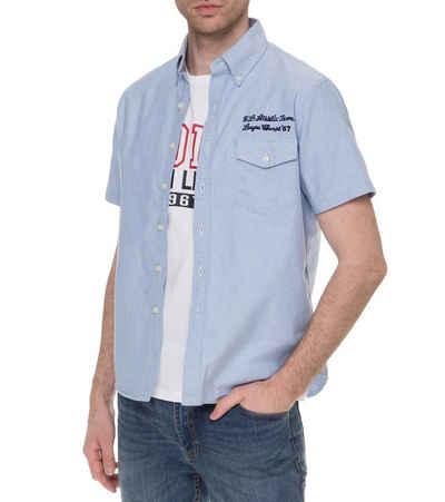 Polo Ralph Lauren Kurzarmhemd »POLO RALPH LAUREN Kurzarm-Hemd cooles Herren Freizeit-Hemd Mode-Hemd Blau«