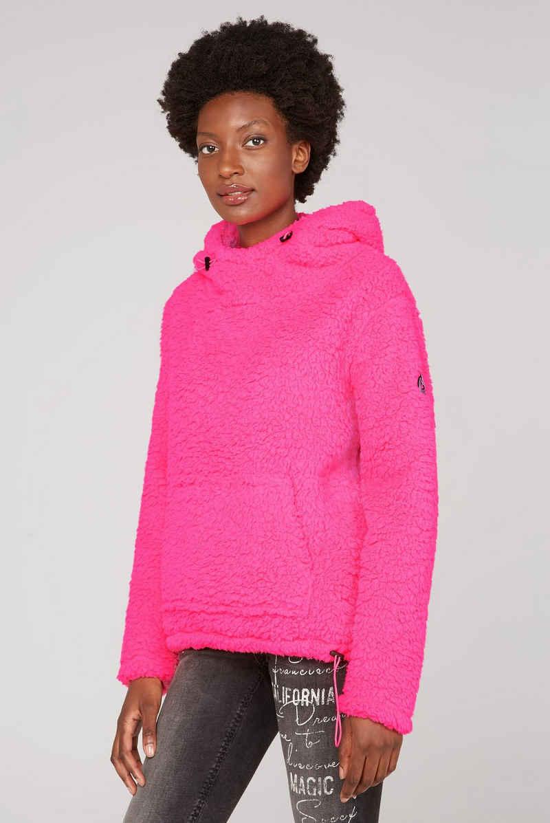 SOCCX Kapuzensweatshirt mit verlängertem Saum hinten