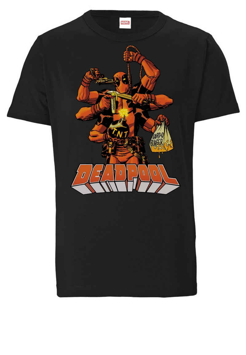 LOGOSHIRT T-Shirt »Marvel Comics – Deadpool« mit lizenziertem Print