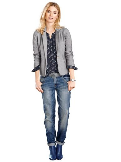 Classic Inspirationen Blazer in elastischer, knitterarmer und strukturierter Melange-Qualität