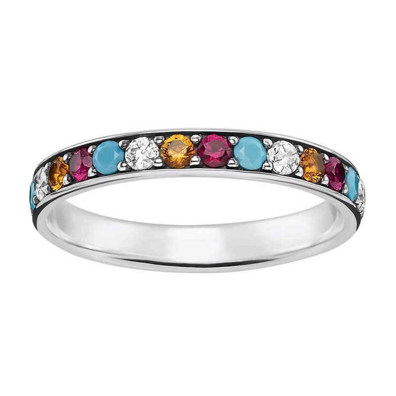 THOMAS SABO Silberring »Farbige Steine«