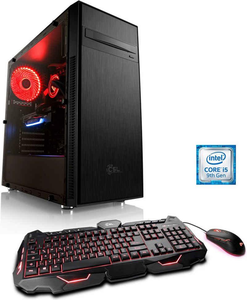 CSL HydroX V5111 Wasserkühlung Gaming-PC (Intel® Core i5 Core™ i5-9600KF, 16 GB RAM, 500 GB SSD, Wasserkühlung)