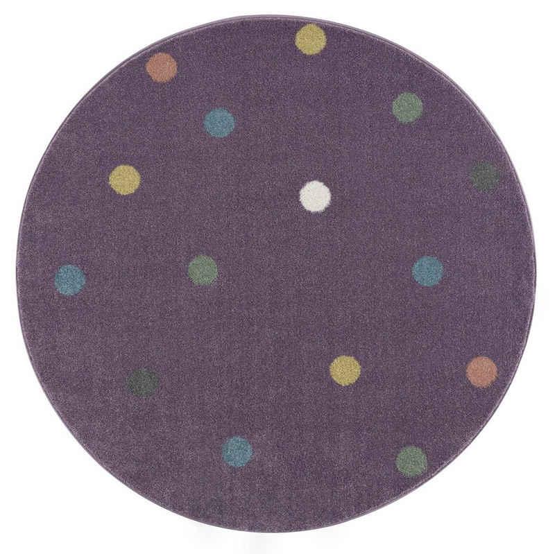 Kinderteppich »Wheel rund«, Happy Rugs, rund, Höhe 18 mm, weicher Flor