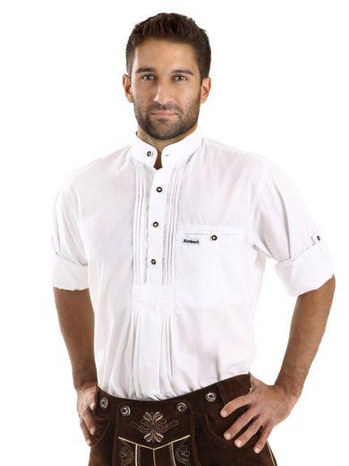 Almbock Trachtenhemd »Trachten Herrenhemd Fidelius« weiß