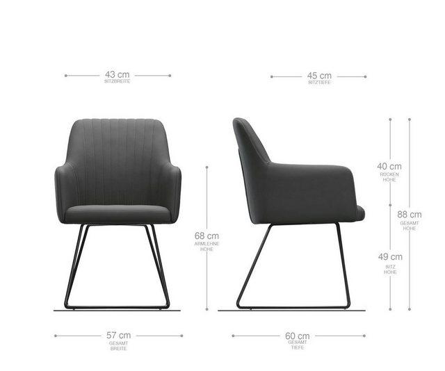 Stühle und Bänke - DELIFE Esszimmerstuhl Greg Flex Polsterstuhl  - Onlineshop OTTO