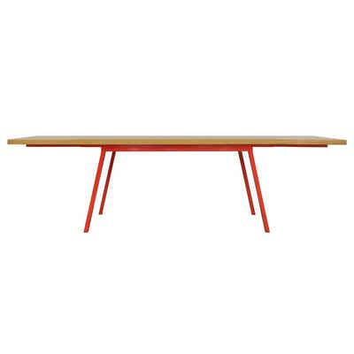 JOHANENLIES Esstisch »Upcycling Tisch VALKENBURG mit Ansteckplatten«, Recyceltes Eichenholz. Nachhaltig. Regional. In Handarbeit gefertigt.