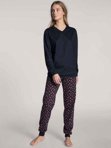 CALIDA Pyjama »Pyjama mit Bündchen« (2 tlg)