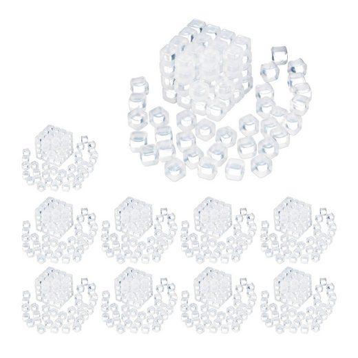 relaxdays Eiswürfelform »1000 x Wiederverwendbare Eiswürfel«