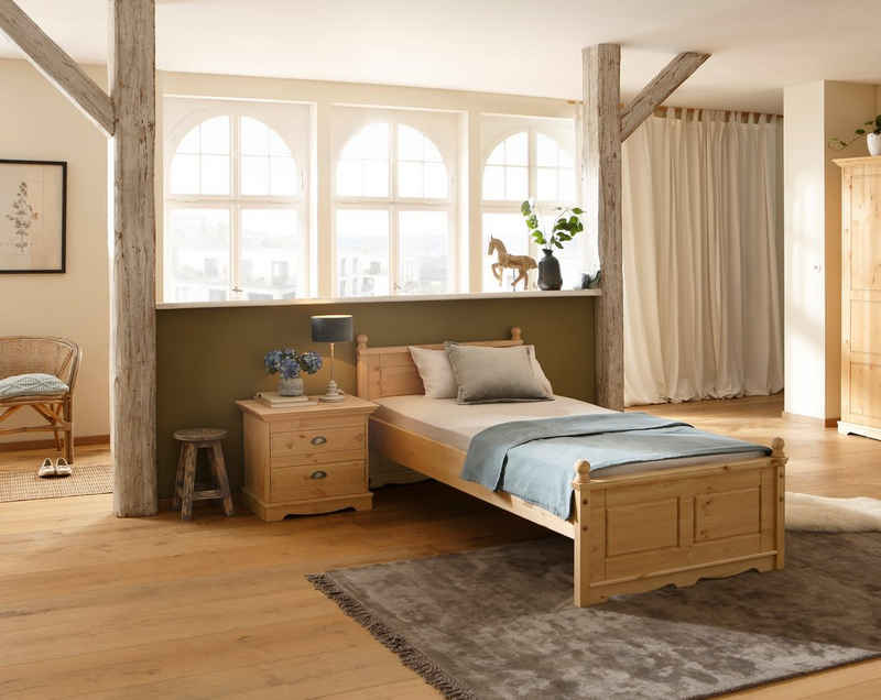 Home affaire Einzelbett »Eva«, aus Kiefer massiv