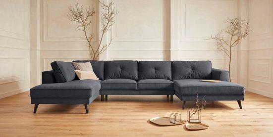 Guido Maria Kretschmer Home&Living Wohnlandschaft »Cosini«, mit eleganter Kreuznaht in den Rückenkissen