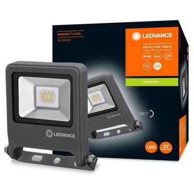 Ledvance LED Aufbaustrahler »LED Flutlicht Endura in Dunkelgrau 10W 800lm IP65«, Außenstrahler