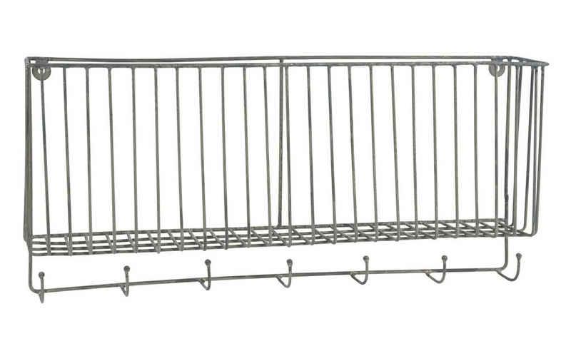 Ib Laursen Dekokorb »Ib Laursen - Wand- Hänge- Korb mit 7 Haken 57050-18 Küche Bad Hakenleiste Metall«