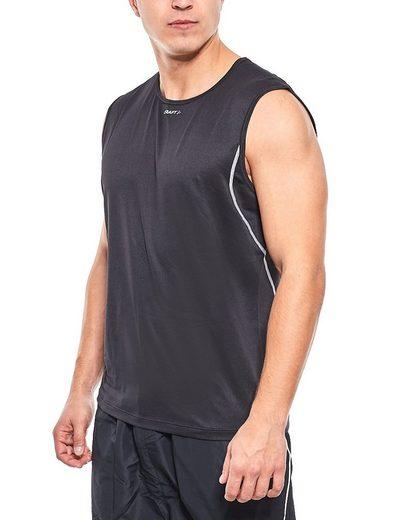 Craft Funktionstop »Craft Shirt Funktions-Top atmungsaktives Herren Sport-Top Trainings-Shirt Schwarz«