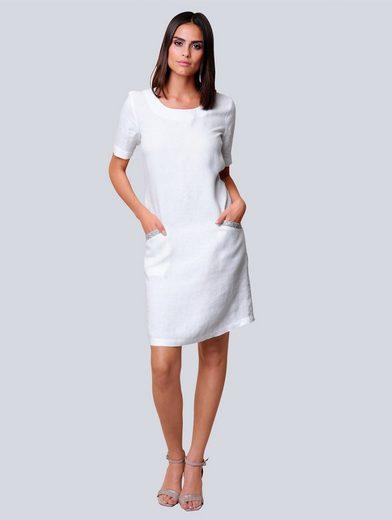 Alba Moda Kleid aus reiner sommerlicher Leinenqualität
