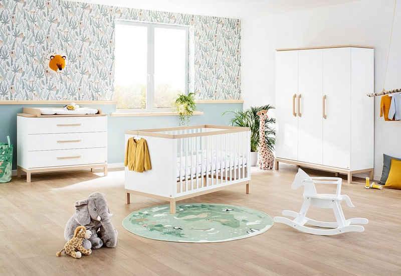 Pinolino® Babyzimmer-Komplettset »Light«, (Set, 3-St), breit groß; mit Kinderbett, Schrank und Wickelkommode; Made in Europe