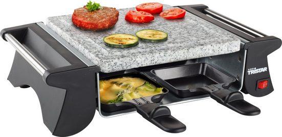 Tristar Raclette 2990 & Steingrill, 4 Raclettepfännchen, 500 W