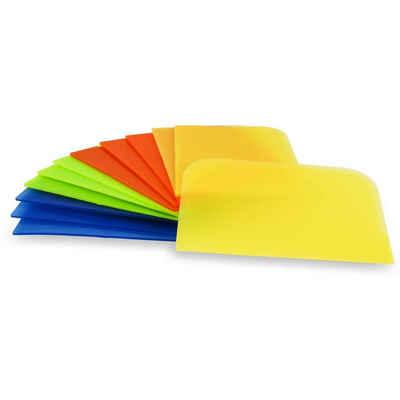 Muxel Teigschaber »Einfache Teigkarte 6 Stück Teigschaber, Teigschaberkarte oder Teigbrotschneider zum Backen aus Kunststoff Schüsselschaber, Scraper zum Glattstreichen von Teig flexibles Material«, abgerundete Ecken