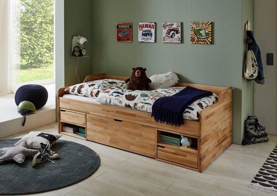 Relita Funktionsbett »Levi«, mit Rollrost, Schubladen und Fächern, wahlweise mit Matratze