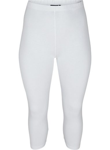 Zizzi Leggings Große Größen Damen Viskose Basis Leggings mit 3/4 Länge