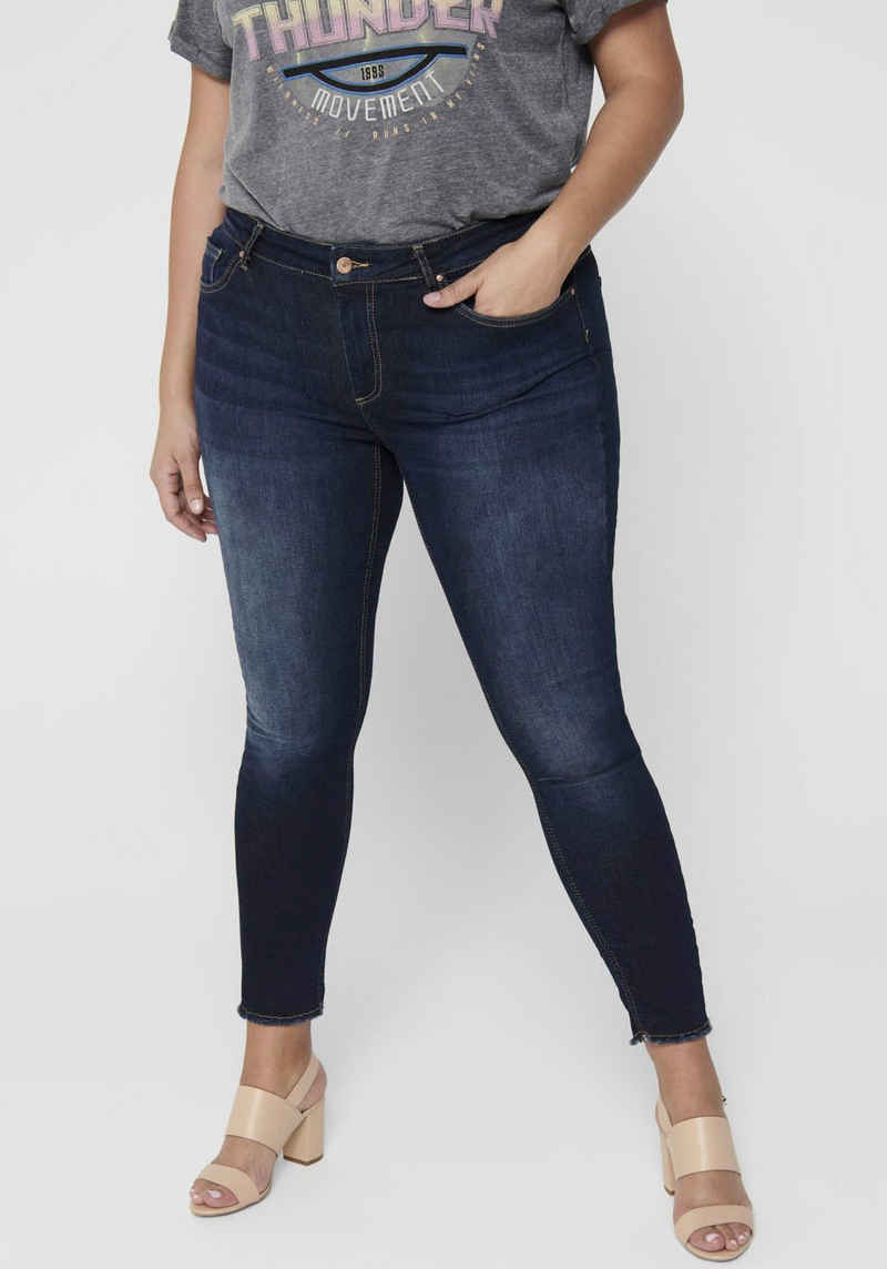 ONLY CARMAKOMA Skinny-fit-Jeans »Willy« in washed-out Optik