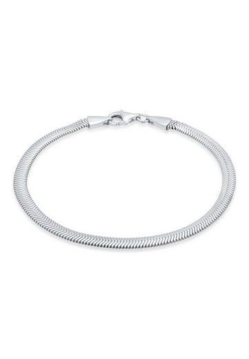 Kuzzoi Armband »Flach Elegant Schlangenkette Fischgräte 925 Silber«