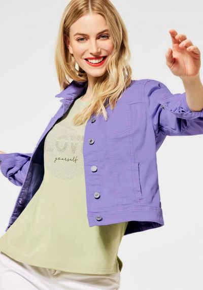STREET ONE Jeansjacke »Roxana« aus farbigem Denim