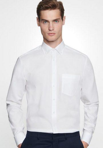 Schlussverkauf seidensticker Businesshemd »Regular« Regular Langarm Button-Down-Kragen Uni