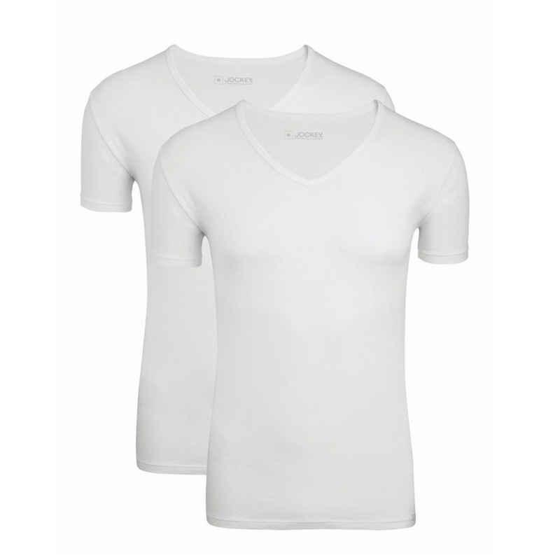 Jockey Unterhemd »2er Pack Cotton+« (2 Stück), T-Shirt mit V-Ausschnitt - Feuchtigkeitsregulierend, Etwas weitere Passform, Luftdurchlässig