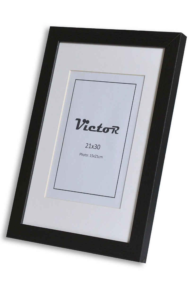 Victor (Zenith) Bilderrahmen »Richter«, 21x30 cm, in schwarz, mit Passepartout, Leiste: 25x20mm, moderner Rahmen
