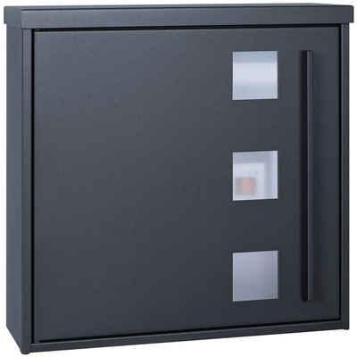 MOCAVI Briefkasten »MOCAVI Box 103W Design-Briefkasten anthrazit-grau (RAL 7016) mit Sichtfenster«