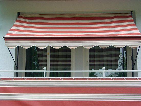 Angerer Freizeitmöbel Balkonsichtschutz »Nr. 9300« Meterware, rot/beige, H: 75 cm