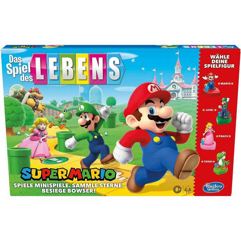 Hasbro Spiel, »Das Spiel des Lebens Super Mario Brettspiel für«