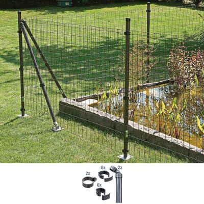 GAH Alberts Zaunpfosten »Verbinder Fix-Clip Pro®«, (Set), 2-seitig für Ø 6x153 cm, zum Einbetonieren
