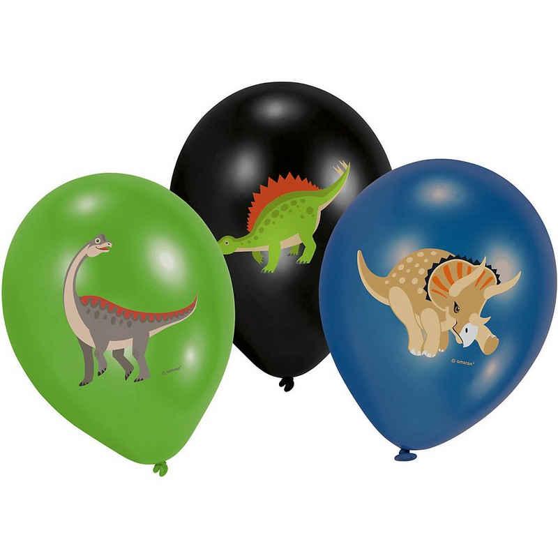 "Riethmüller Luftballon »6 Latexballons Happy Dinosaur 28cm/11"" 4C«"