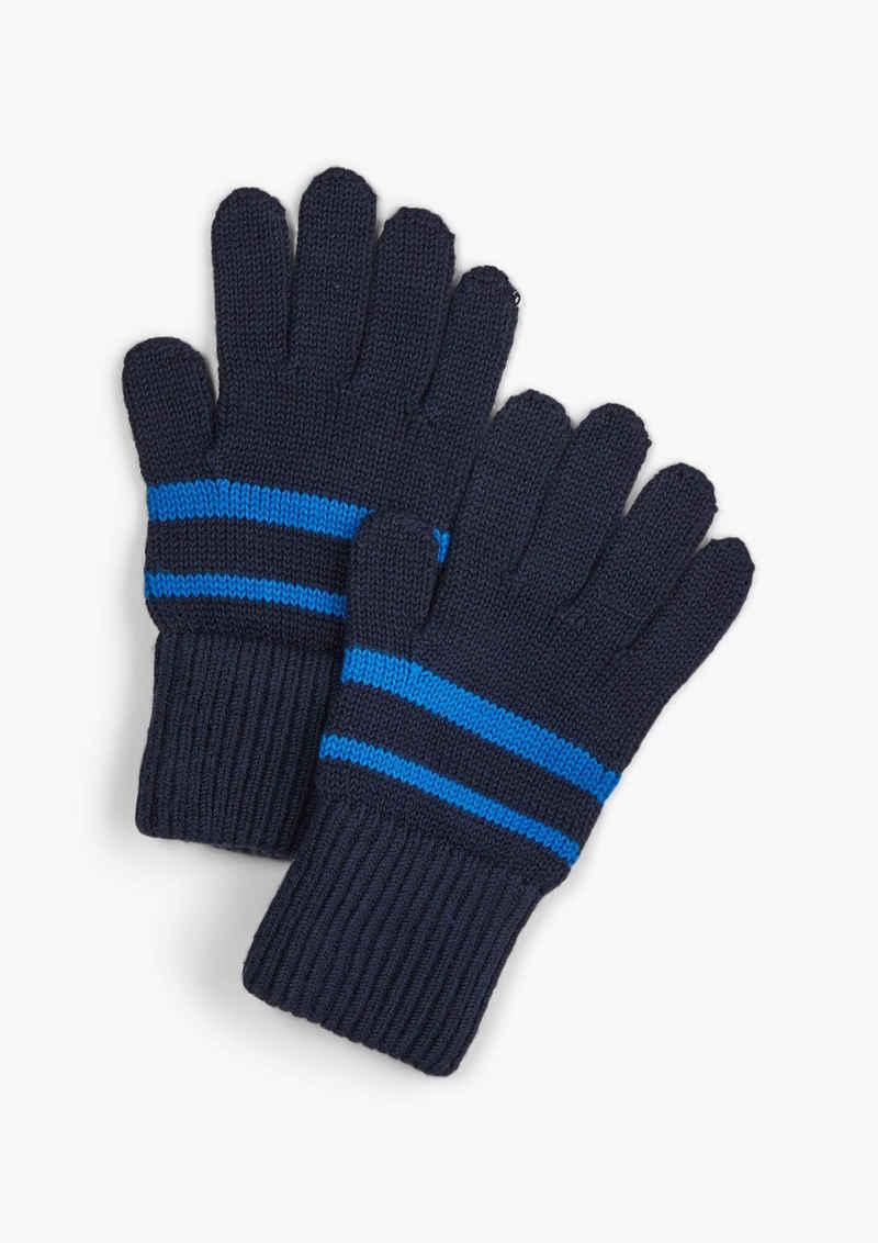 s.Oliver Strickhandschuhe »Handschuhe mit Kontraststreifen« Rippblende