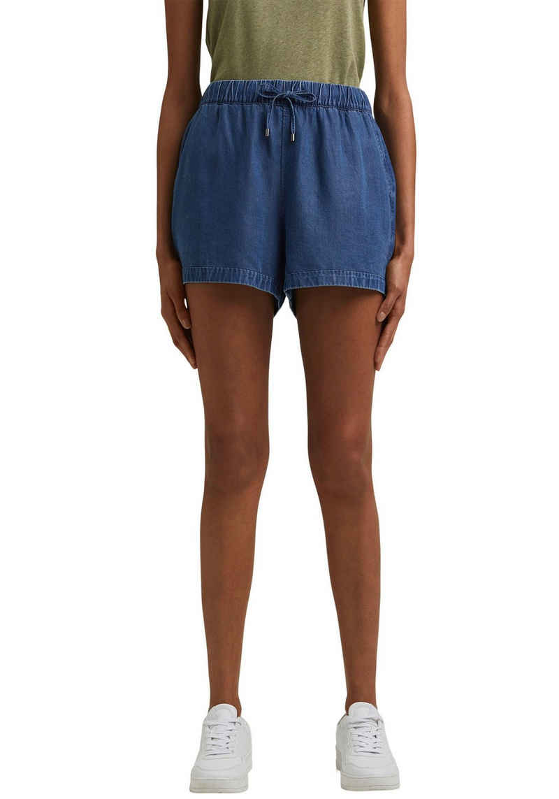 edc by Esprit Jeansshorts in Chambray-Optik