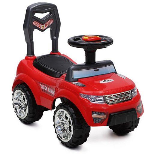 Moni Rutscher »Rutscher, Kinderauto Tiger Range«, mit Musik, Licht, Hupe, Staufach im Sitz