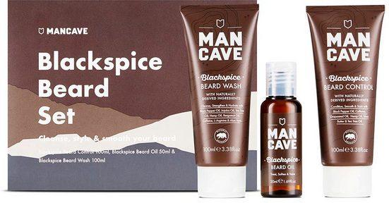 MAN CAVE Bartpflege-Set »Blackspice Beard Set«, 3-tlg.