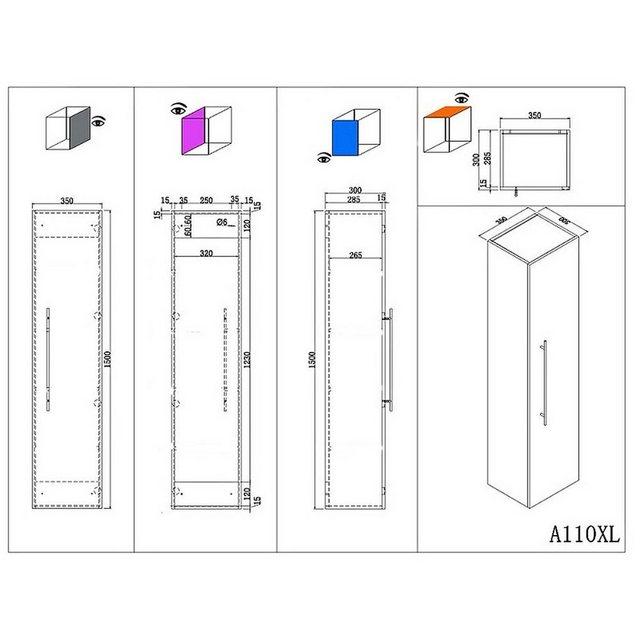 Badezimmer Sets - Lomadox Badmöbel Set »LAOS 02«, (Spar Set)  - Onlineshop OTTO