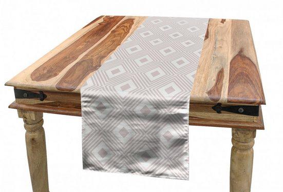 Abakuhaus Tischläufer »Esszimmer Küche Rechteckiger Dekorativer Tischläufer«, Abstrakt Diamond Like Rhombus Formulare