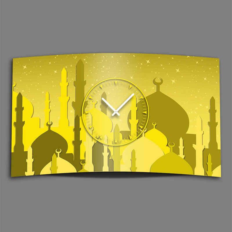 dixtime Wanduhr »1001 Nacht Minarett Designer Wanduhr modernes« (Einzigartige 3D-Optik aus 4mm Alu-Dibond)