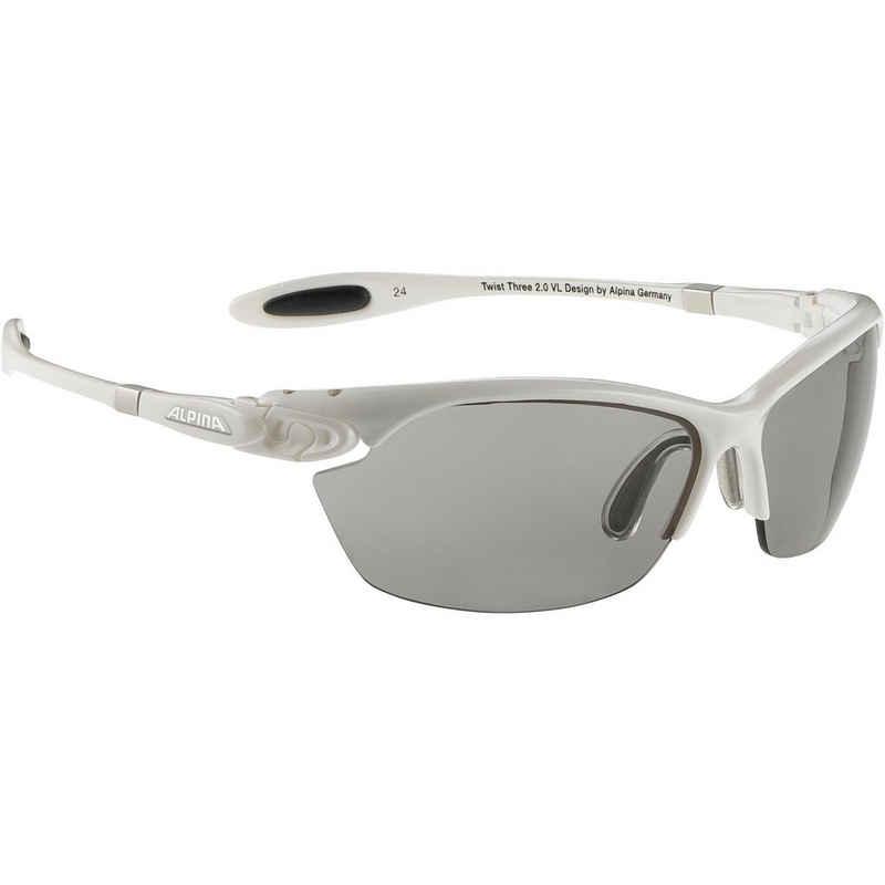 Alpina Sportbrille »TWIST THREE 2.0 VL«, Anti-Beschlag,flexibler Nasensteg,rutschsicherer Sitz,selbsttönende Scheiben