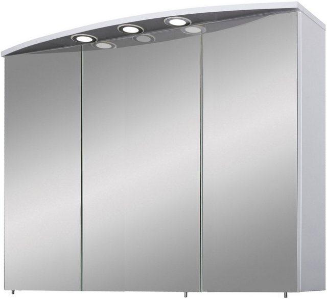 Spiegel - Schildmeyer Spiegelschrank »Verona« Breite 120 cm, 3 türig, 3 LED Einbaustrahler, Schalter Steckdosenbox, Glaseinlegeböden, Made in Germany  - Onlineshop OTTO