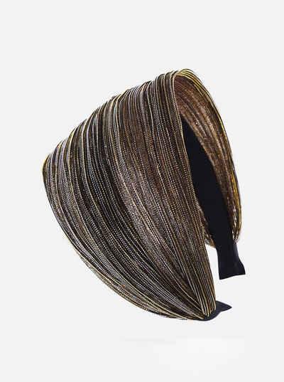 axy Haarreif »Breiter Haarreif mit auffallenden Glitzerfäden Wunderschön«, Damen Breiter Haarreif mit Glitzerfäden in Tuchoptik Haarband Haarreifen