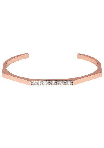 DKNY Armspange »NYC Geometric Skinny Pave Cuff (RG), 5548740«, mit Swarovski® Kristallen