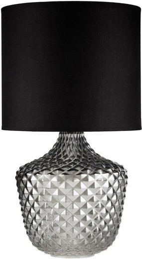 Pauleen Tischleuchte »Brilliant Jewel«, Stoffschirm, Rauchglas Schwarz
