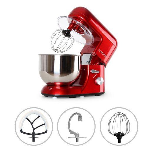 Klarstein Küchenmaschine Bella Küchenmaschine 2000 W / 2,7 PS 5 Ltr Edelstahl BPA-frei, 1300 W, 5.2 l Schüssel