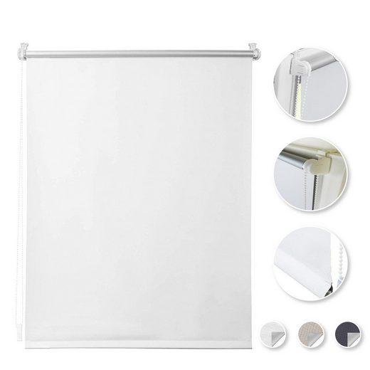 Seitenzugrollo »Thermorollo-Weiß«, i@home, verdunkelnd, ohne Bohren, Freihängend, Hitzeschutz